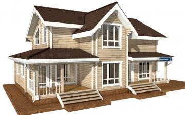 Фото #5: деревянный дом ПДБ-37 из клееного бруса купить за 14135000 (цена «Под ключ»)