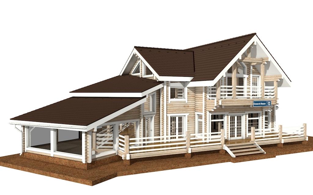 Фото #4: деревянный дом ПДБ-39 из клееного бруса купить за 15784000 (цена «Под ключ»)