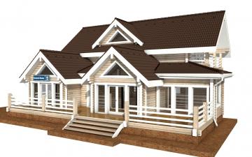 Фото #5: деревянный дом ПДБ-40 из клееного бруса купить за 13232000 (цена «Под ключ»)