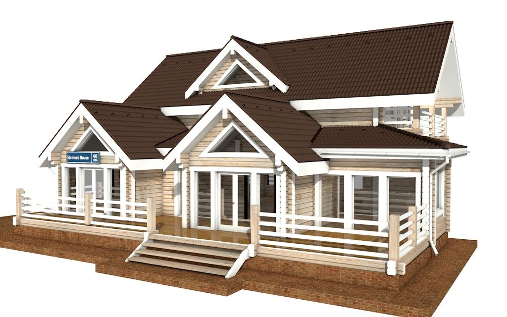 Фото #4: деревянный дом ПДБ-40 из клееного бруса купить за 13232000 (цена «Под ключ»)