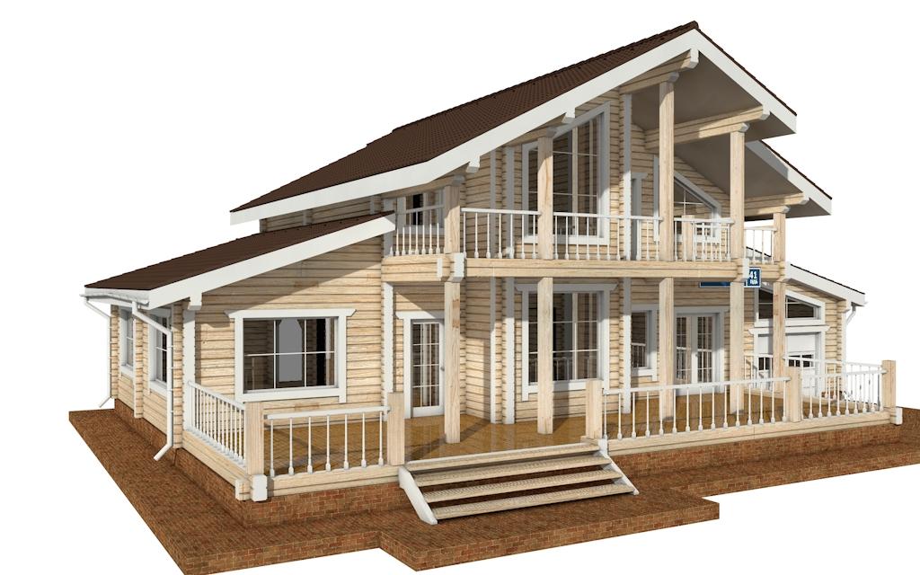 Фото #2: деревянный дом ПДБ-41 из клееного бруса купить за 12685000 (цена «Под ключ»)