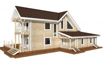 Фото #5: деревянный дом ПДБ-42 из клееного бруса купить за 17628000 (цена «Под ключ»)
