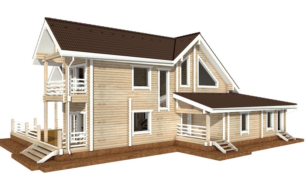 Фото #4: деревянный дом ПДБ-42 из клееного бруса купить за 17628000 (цена «Под ключ»)