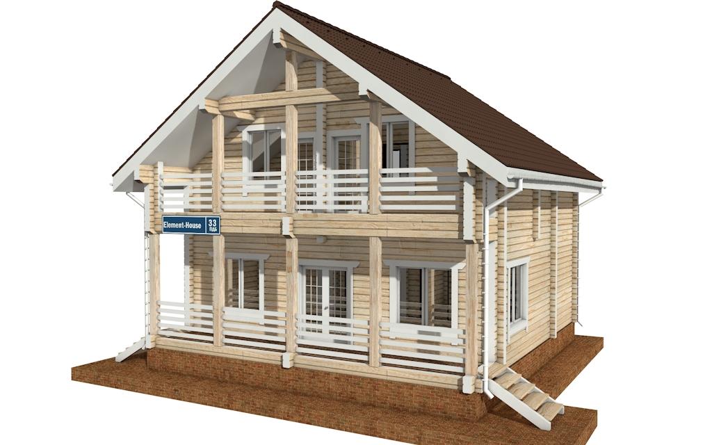 Фото #4: деревянный дом ПДБ-33 из клееного бруса купить за 9467000 (цена «Под ключ»)