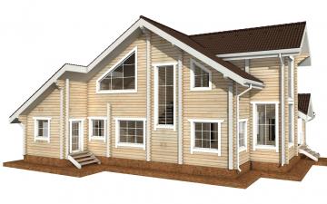 Фото #3: деревянный дом ПДБ-34 из клееного бруса купить за 13915000 (цена «Под ключ»)