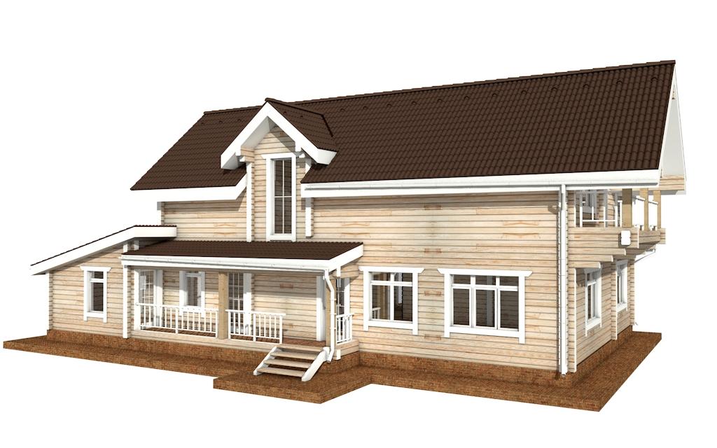 Фото #3: деревянный дом ПДБ-43 из клееного бруса купить за 14446000 (цена «Под ключ»)
