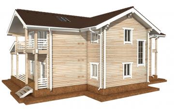 Фото #6: деревянный дом ПДБ-44 из клееного бруса купить за 14702000 (цена «Под ключ»)