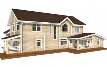 Фото #3: деревянный дом ПДБ-45 из клееного бруса купить за 18689000 (цена «Под ключ»)