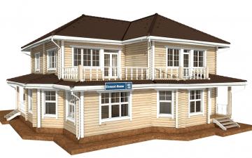 Фото #6: деревянный дом ПДБ-46 из клееного бруса купить за 17082000 (цена «Под ключ»)
