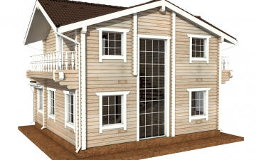 Фото #6: деревянный дом ПДБ-47 из клееного бруса купить за 6464000 (цена «Под ключ»)