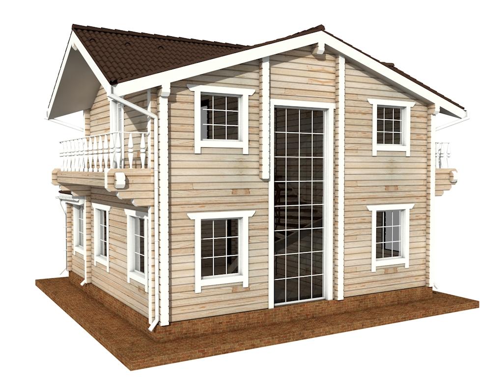 Фото #5: деревянный дом ПДБ-47 из клееного бруса купить за 6464000 (цена «Под ключ»)