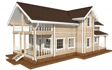 Фото #3: деревянный дом ПДБ-49 из клееного бруса купить за 9892000 (цена «Под ключ»)