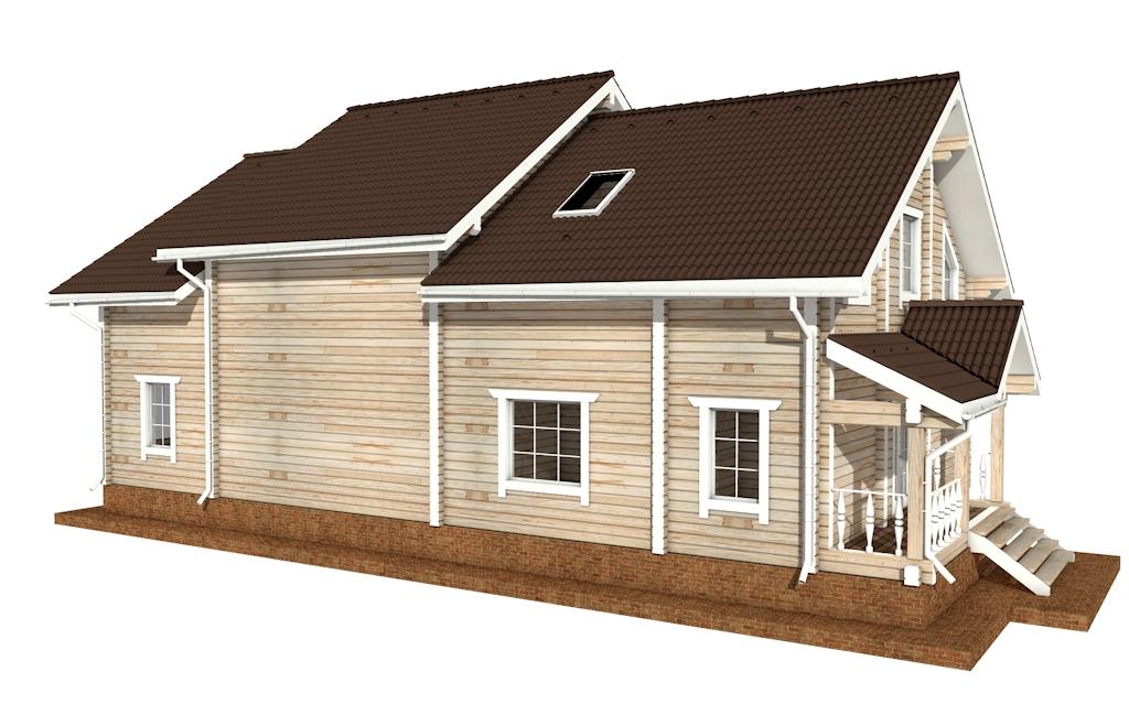 Фото #3: деревянный дом ПДБ-50 из клееного бруса купить за 14985000 (цена «Под ключ»)