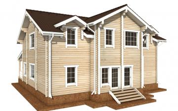 Фото #6: деревянный дом ПДБ-51 из клееного бруса купить за 15974000 (цена «Под ключ»)