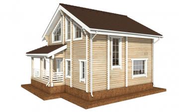 Фото #3: деревянный дом ПДБ-35 из клееного бруса купить за 8016000 (цена «Под ключ»)