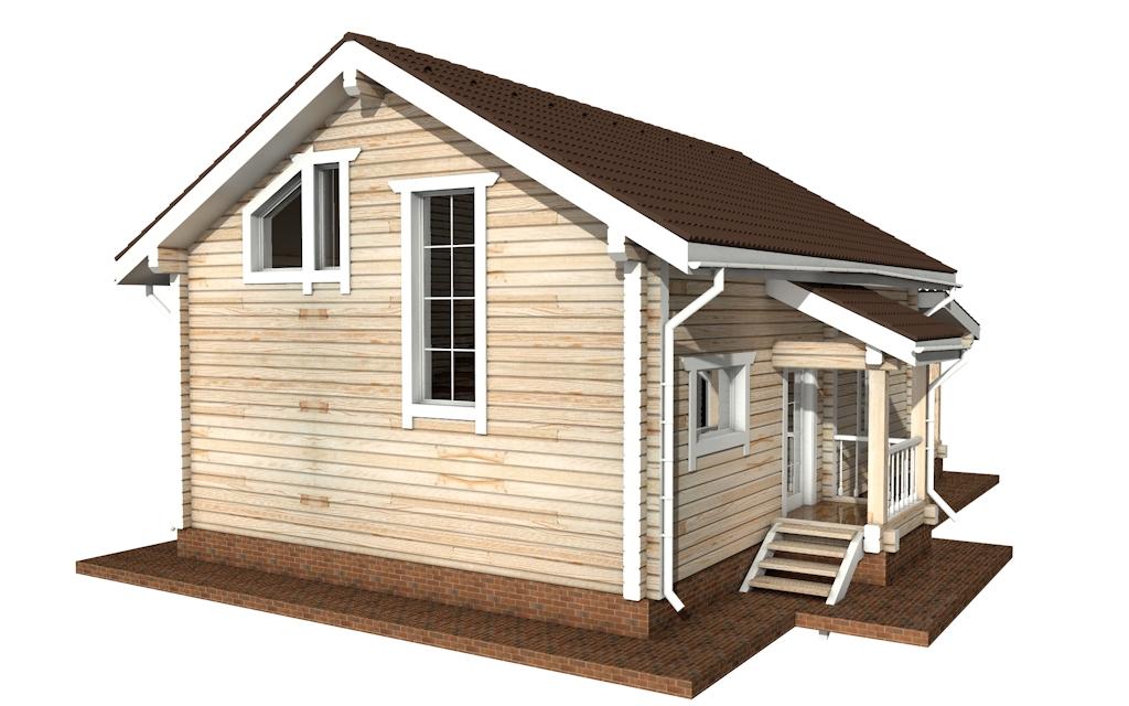 Фото #3: деревянный дом ПДБ-53 из клееного бруса купить за 4835000 (цена «Под ключ»)
