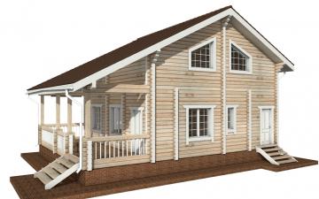 Фото #3: деревянный дом ПДБ-54 из клееного бруса купить за 6262000 (цена «Под ключ»)