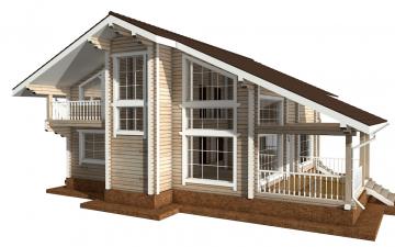 Фото #3: деревянный дом ПДБ-55 из клееного бруса купить за 11957000 (цена «Под ключ»)