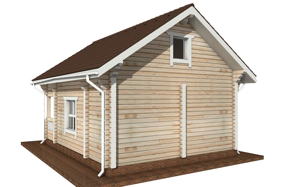 Фото #3: деревянный дом ПДБ-56 из клееного бруса купить за 4483000 (цена «Под ключ»)