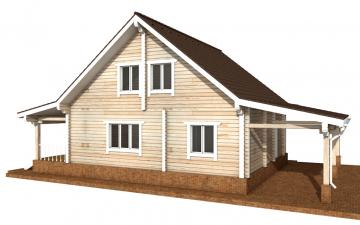 Фото #6: деревянный дом ПДБ-57 из клееного бруса купить за 7043000 (цена «Под ключ»)