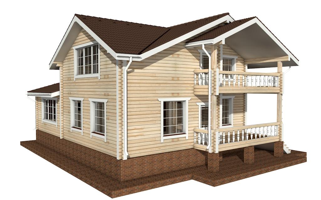 Фото #5: деревянный дом ПДБ-58 из клееного бруса купить за 10721000 (цена «Под ключ»)