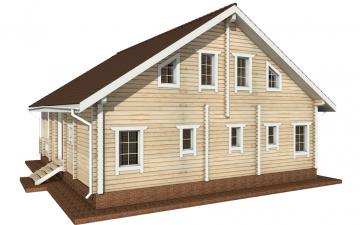 Фото #3: деревянный дом ПДБ-59 из клееного бруса купить за 10102000 (цена «Под ключ»)