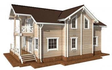 Фото #6: деревянный дом ПДБ-60 из клееного бруса купить за 10456000 (цена «Под ключ»)