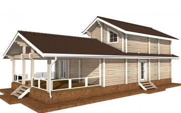 Фото #3: деревянный дом ПДБ-61 из клееного бруса купить за 10276000 (цена «Под ключ»)