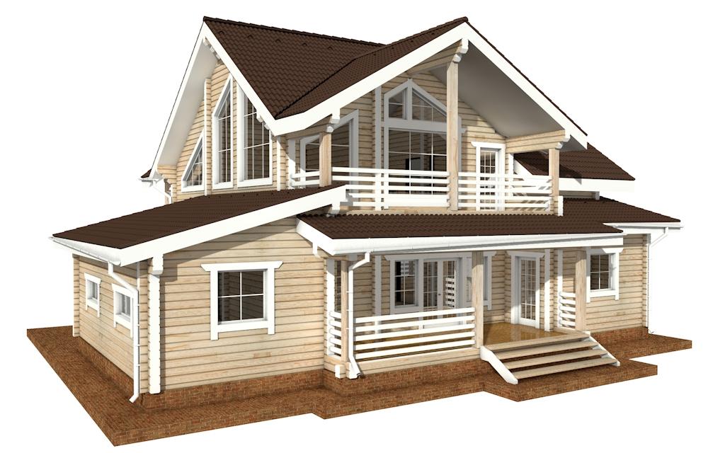 Фото #3: деревянный дом ПДБ-36 из клееного бруса купить за 14352000 (цена «Под ключ»)