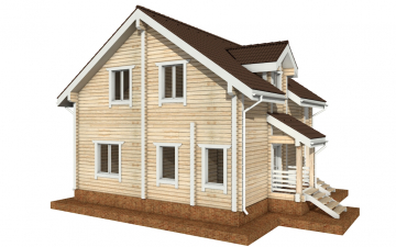 Фото #6: деревянный дом ПДБ-33 из клееного бруса купить за 9467000 (цена «Под ключ»)