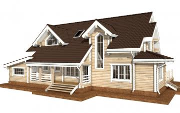 Фото #3: деревянный дом ПДБ-38 из клееного бруса купить за 15922000 (цена «Под ключ»)