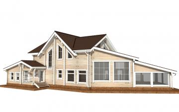 Фото #6: деревянный дом ПДБ-39 из клееного бруса купить за 15784000 (цена «Под ключ»)