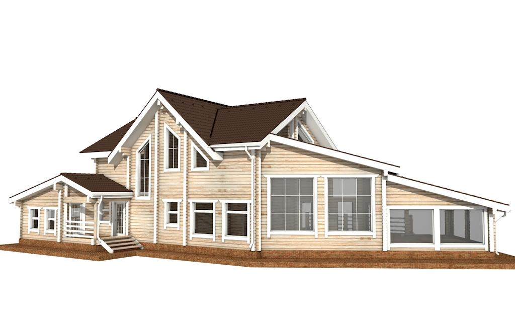 Фото #5: деревянный дом ПДБ-39 из клееного бруса купить за 15784000 (цена «Под ключ»)