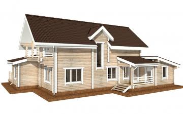 Фото #6: деревянный дом ПДБ-40 из клееного бруса купить за 13232000 (цена «Под ключ»)