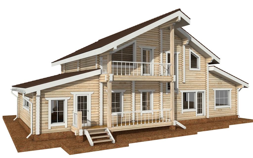 Фото #3: деревянный дом ПДБ-41 из клееного бруса купить за 12685000 (цена «Под ключ»)