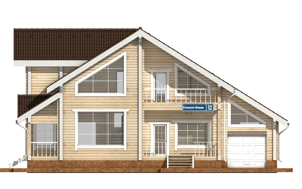 Фото #6: деревянный дом ПДБ-34 из клееного бруса купить за 13915000 (цена «Под ключ»)
