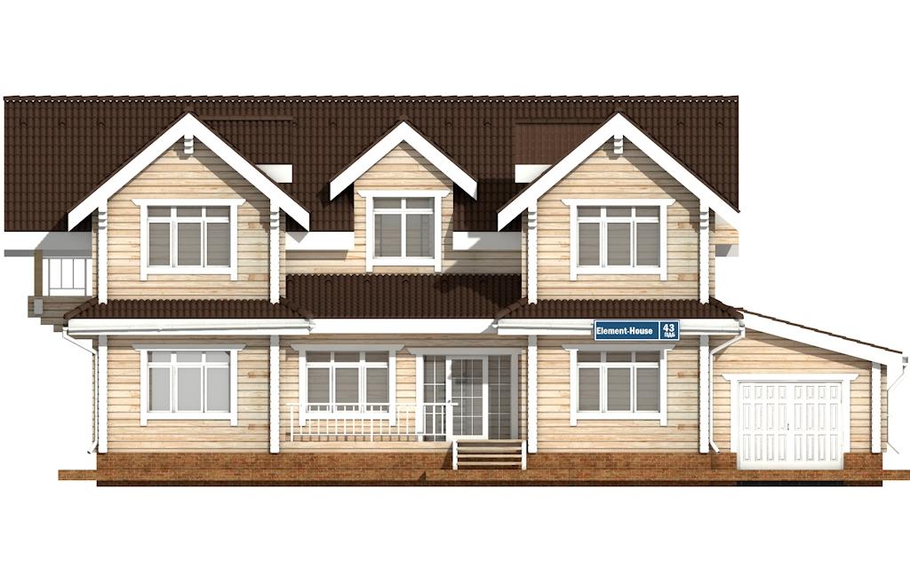 Фото #6: деревянный дом ПДБ-43 из клееного бруса купить за 14446000 (цена «Под ключ»)