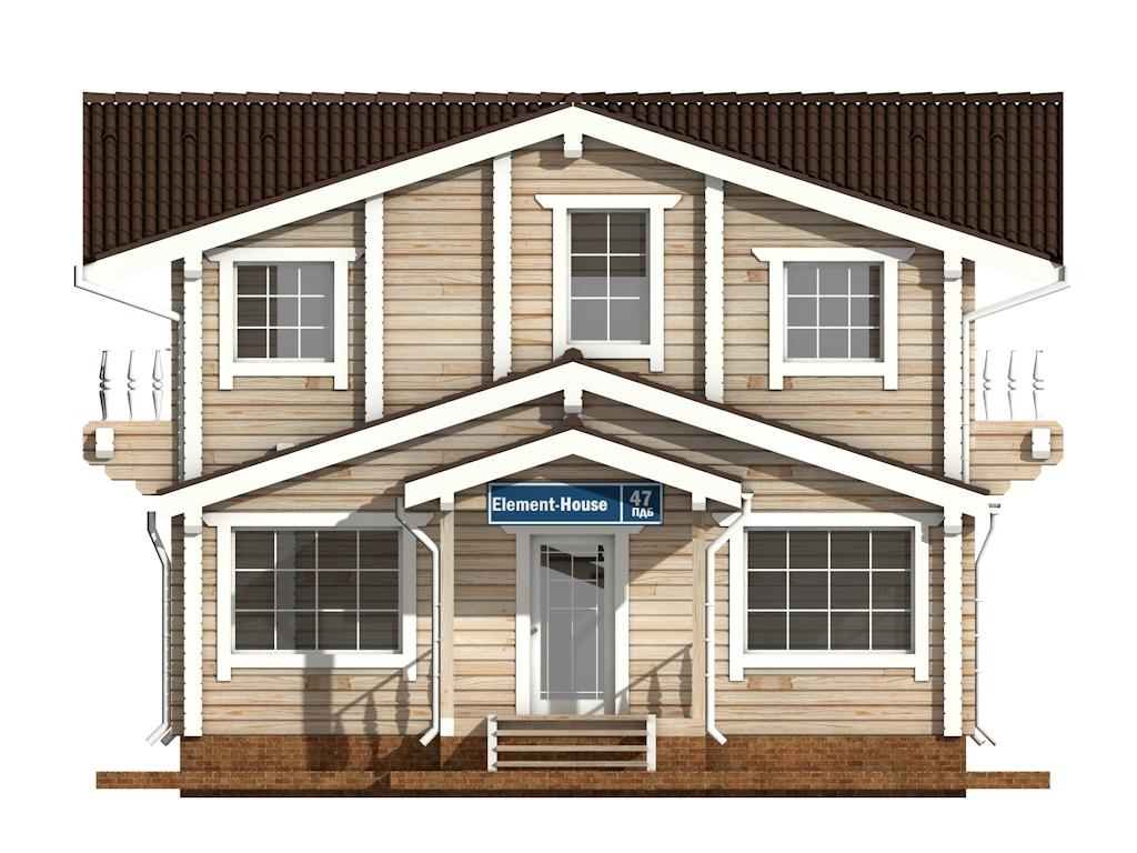 Фото #7: деревянный дом ПДБ-47 из клееного бруса купить за 6464000 (цена «Под ключ»)