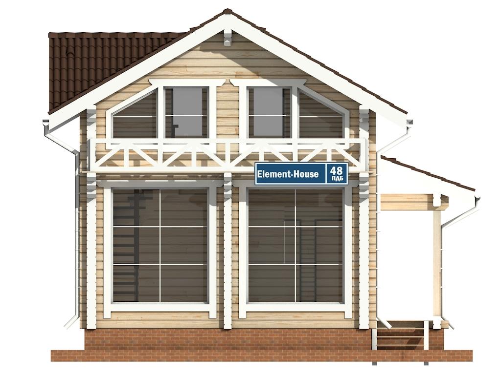 Фото #6: деревянный дом ПДБ-48 из клееного бруса купить за 4465000 (цена «Под ключ»)
