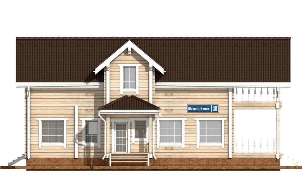 Фото #6: деревянный дом ПДБ-49 из клееного бруса купить за 9892000 (цена «Под ключ»)