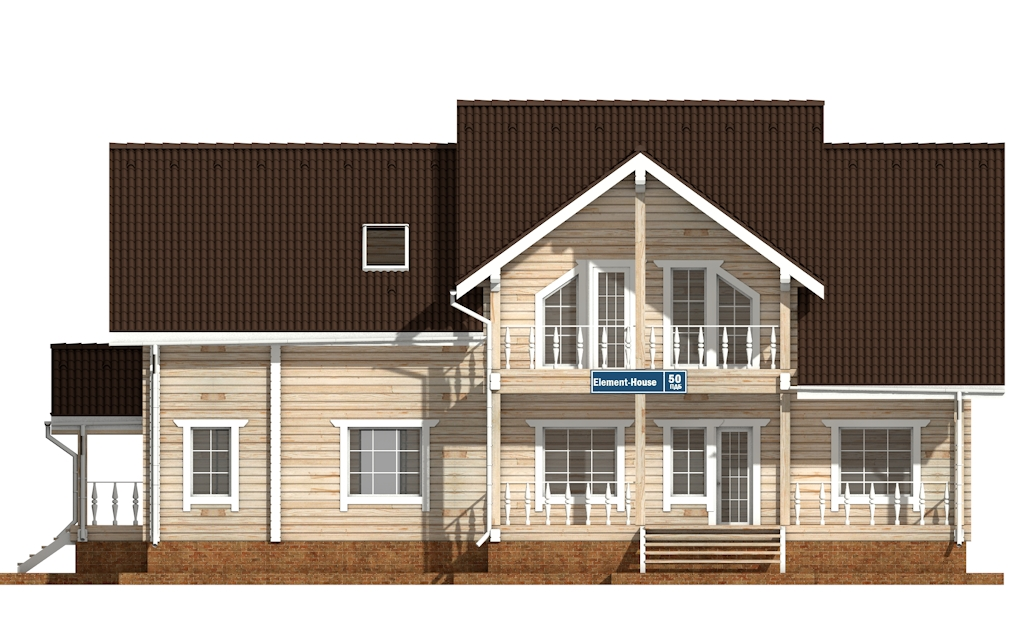 Фото #6: деревянный дом ПДБ-50 из клееного бруса купить за 14985000 (цена «Под ключ»)