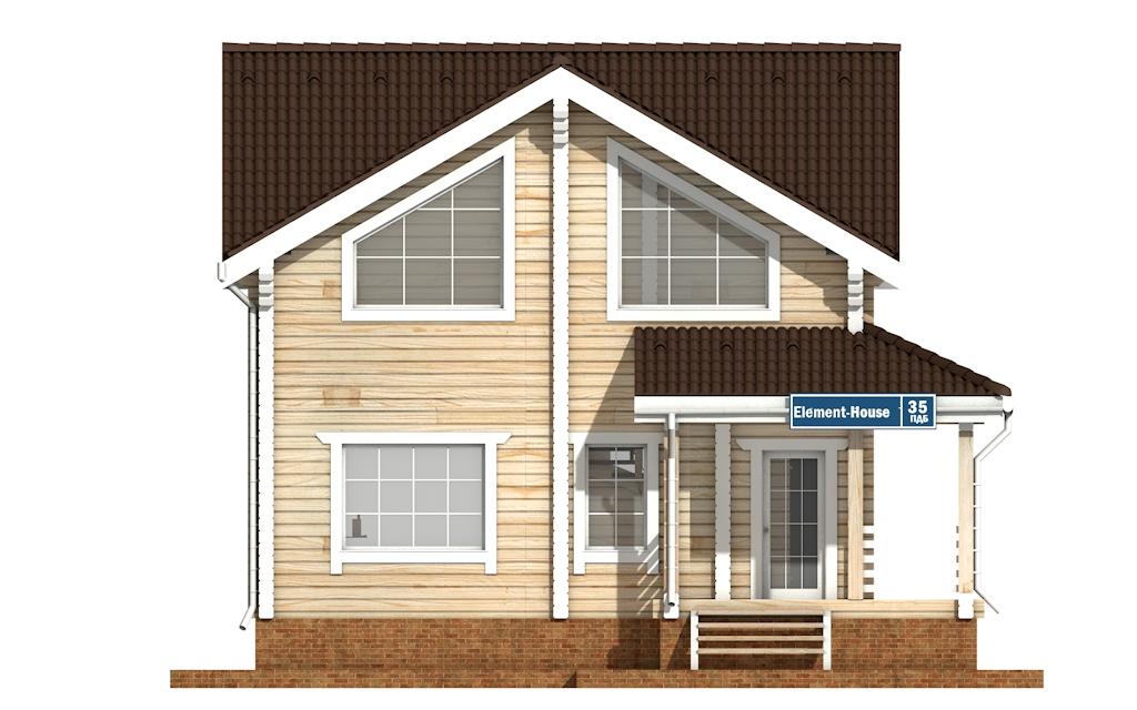 Фото #6: деревянный дом ПДБ-35 из клееного бруса купить за 8016000 (цена «Под ключ»)