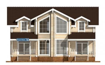 Фото #7: деревянный дом ПДБ-51 из клееного бруса купить за 15974000 (цена «Под ключ»)