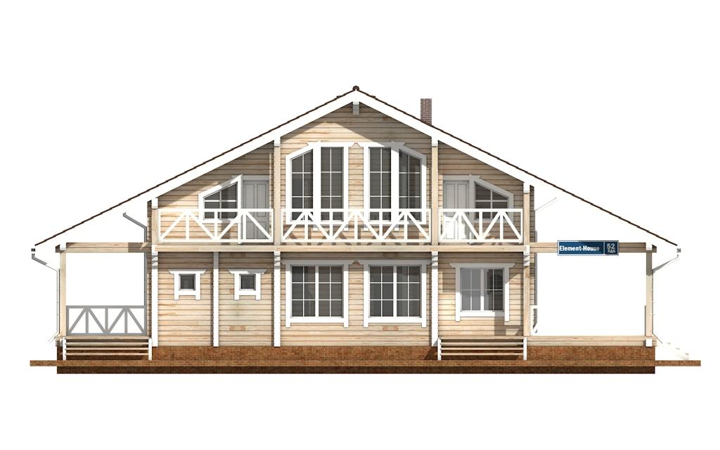 Фото #6: деревянный дом ПДБ-52 из клееного бруса купить за 12164000 (цена «Под ключ»)