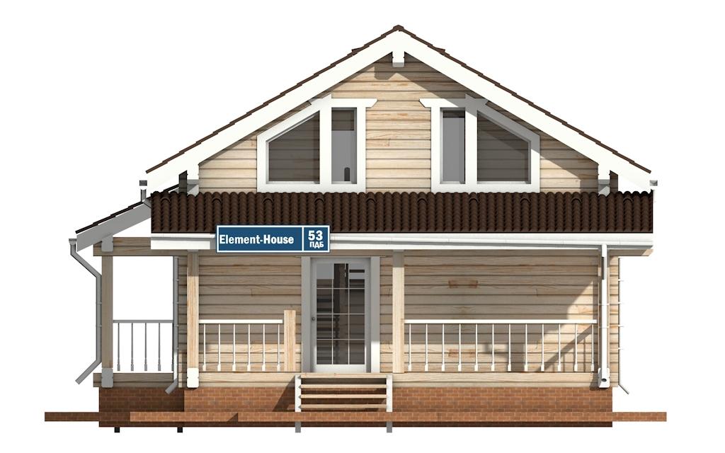 Фото #6: деревянный дом ПДБ-53 из клееного бруса купить за 4835000 (цена «Под ключ»)