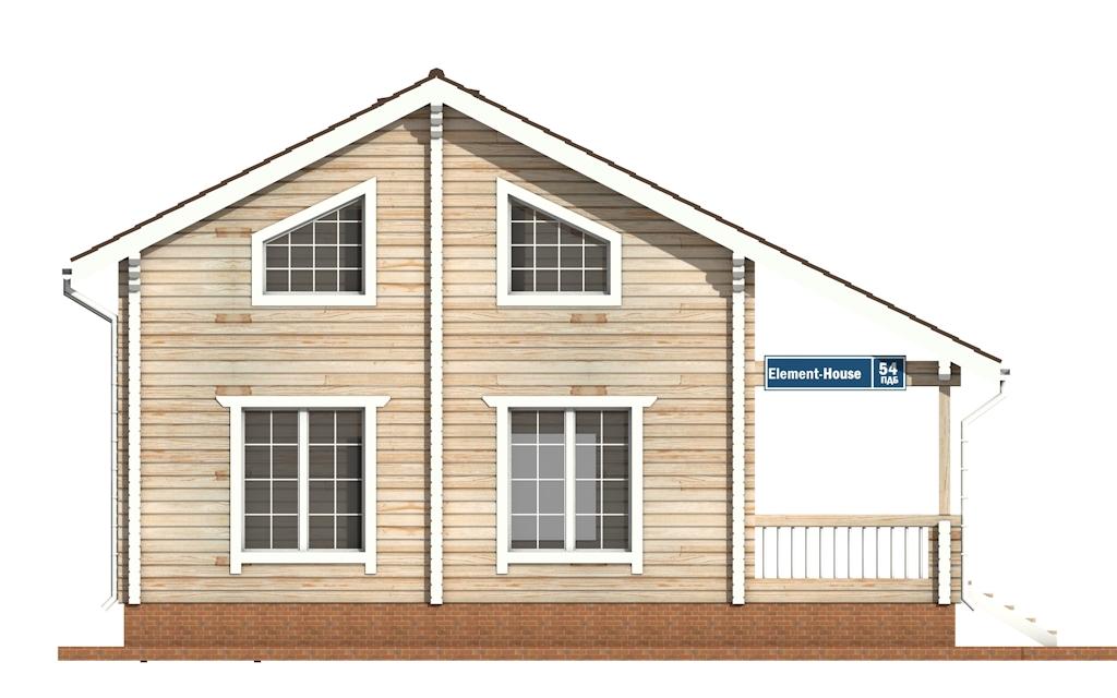 Фото #6: деревянный дом ПДБ-54 из клееного бруса купить за 6262000 (цена «Под ключ»)