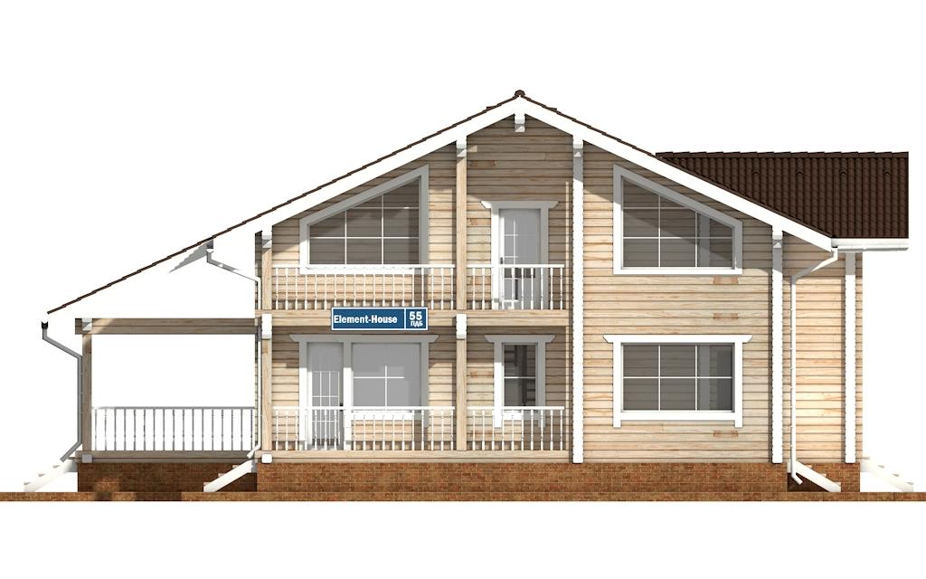 Фото #6: деревянный дом ПДБ-55 из клееного бруса купить за 11957000 (цена «Под ключ»)