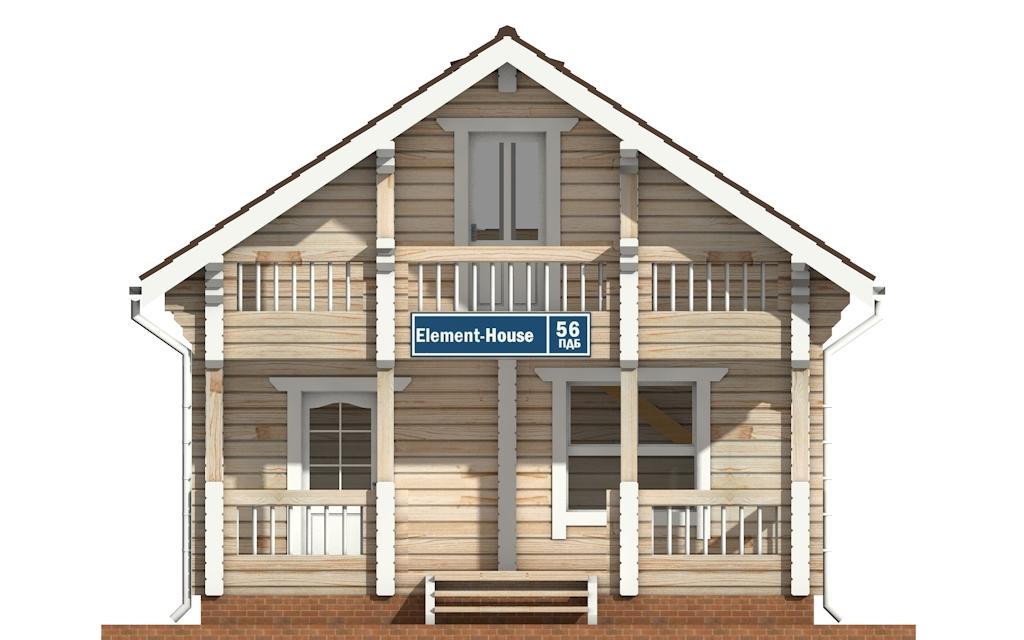 Фото #6: деревянный дом ПДБ-56 из клееного бруса купить за 4483000 (цена «Под ключ»)
