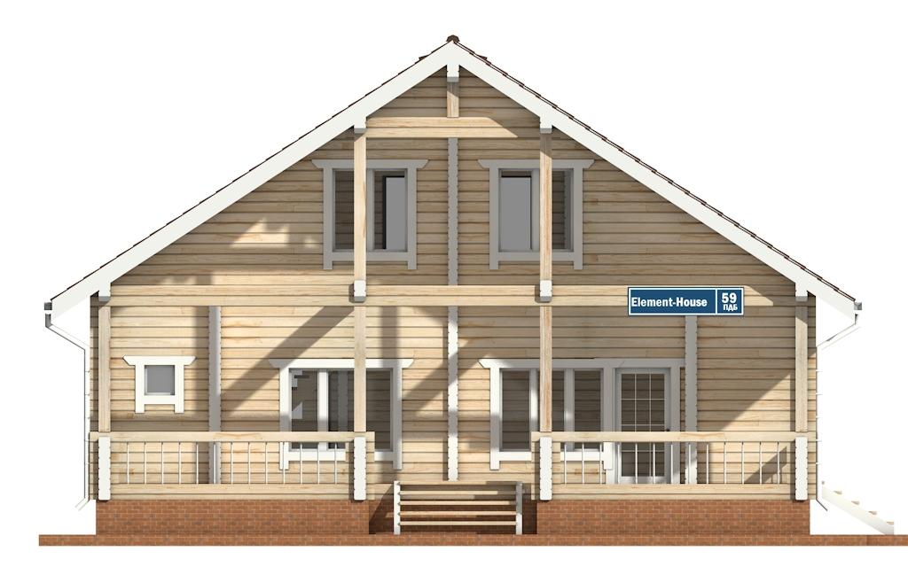Фото #6: деревянный дом ПДБ-59 из клееного бруса купить за 10102000 (цена «Под ключ»)