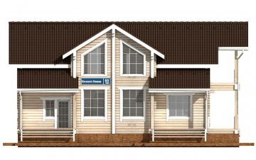 Фото #7: деревянный дом ПДБ-60 из клееного бруса купить за 10456000 (цена «Под ключ»)